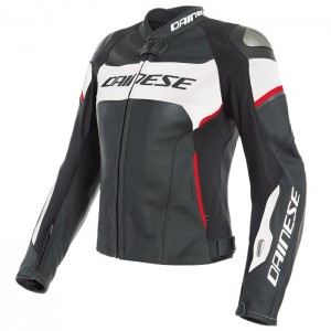 RACING 3 LADY D-AIR LEATHER JACKET